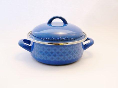 Zománcozott Lábas Alice kék rizslánc + fedő 16cm 1,25L