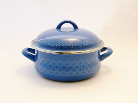 Zománcozott Lábas Alice kék rizslánc + fedő 18cm 1,75L