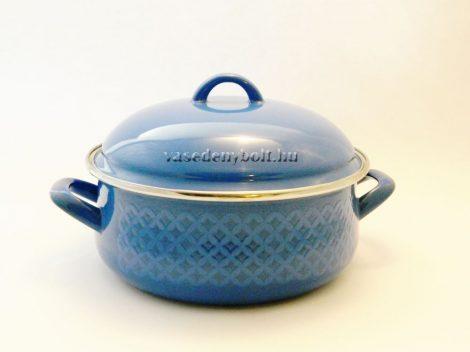 Zománcozott Lábas Alice kék rizslánc + fedő 22cm 3,5L
