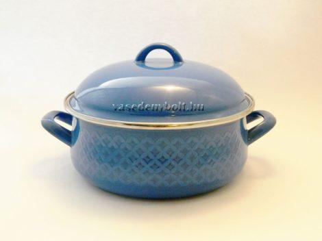 Zománcozott Lábas Alice kék rizslánc + fedő 24cm 4,5L