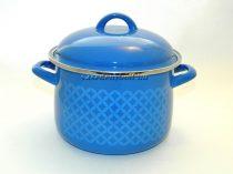 Zománcozott Fazék Alice kék rizslánc + fedő 20cm 4L