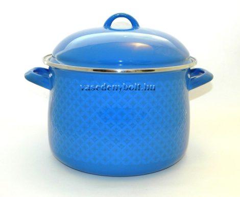 Zománcozott Fazék Alice kék rizslánc + fedő 24cm 7,5L