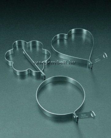 Metaltex Tükörtojás Sütő forma virág/szív/kör
