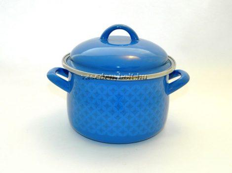 Zománcozott Fazék Alice kék rizslánc + fedő 16cm 2L