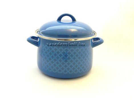Zománcozott Fazék Alice kék rizslánc + fedő 18cm 3L