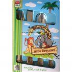 Lamart Zoo Gyermek Evőeszköz készlet 4 darabos LT5005