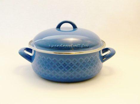 Zománcozott Lábas Alice kék rizslánc + fedő 20cm 2,5L