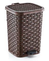 Rattan hatású műanyag szemetes 6L