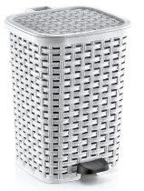 Rattan hatású műanyag szemetes 12L