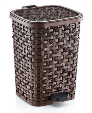 Rattan hatású műanyag szemetes 26L