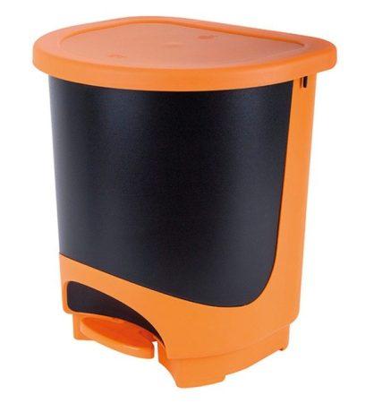 Szemetes pedálos 30l JUYPAL (narancs-fekete)