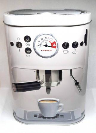 Fém doboz Kávégép ovális