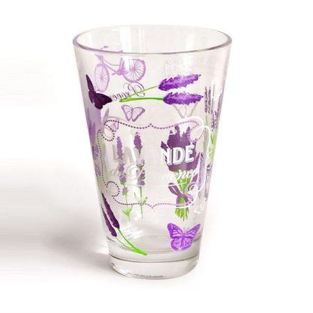 Pohár üveg 310ml LEVENDULA